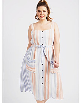 Koko Stripe Midi Dress