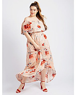 Koko Floral Maxi Bardot Dress