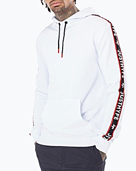 Hype White Race Pullover Hoody