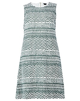 Izabel London Curve Printed Shift Dress