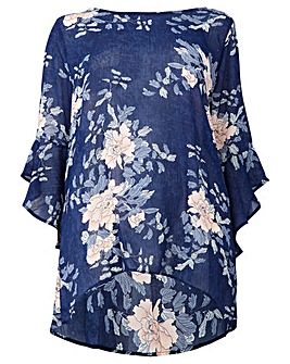 Izabel London Curve Floral Print Blouse