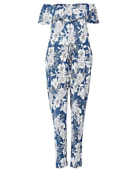 Izabel London Curve Floral Jumpsuit