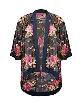 Mela London Curve Lily Print Kimono