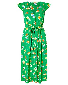 Monsoon Mora Floral Print Midi Dress