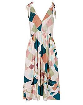 Monsoon Harlequin Print Midi Dress