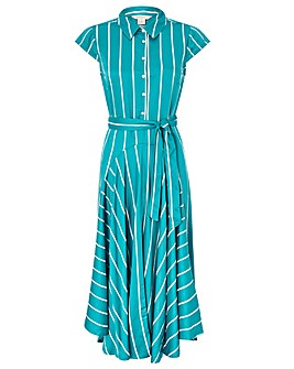 Monsoon Dallas Stripe Shirt Dress