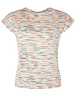 Monsoon Laxmi Print Linen T-Shirt