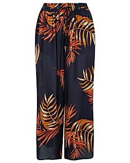 Monsoon Hana Palm Print Trouser