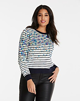 Oasis Painted Meadow Stripe Knit