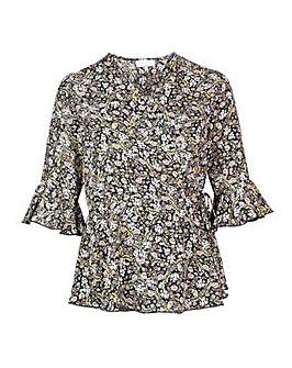 Lovedrobe GB Floral Wrap Top