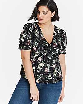 Oasis Secret Garden Ruched Blouse