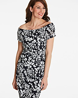 Gina Bacconi Bardot Floral Dress
