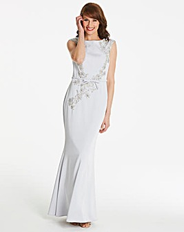 Gina Bacconi Embellished Maxi Dress
