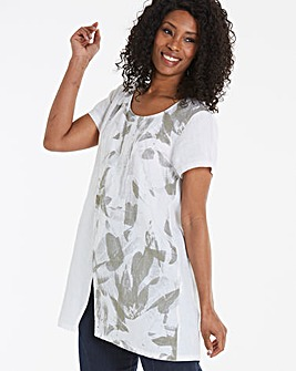 Eden Rock Abstract Print Pure Linen Top