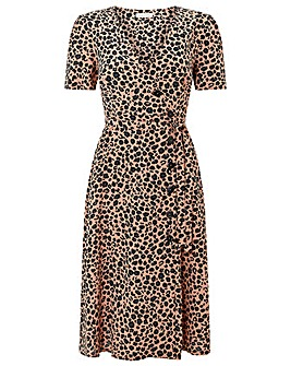 Monsoon Margot Animal Print Button Dress
