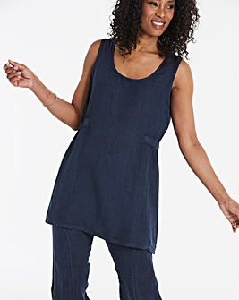 Eden Rock Gathered Side Pure Linen Top