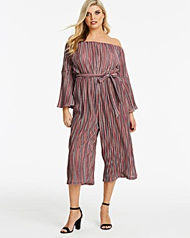 Ax Paris Curve Glitter Stripe Jumpsuit