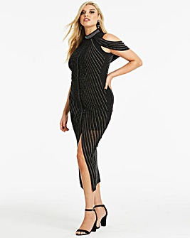 Club L London Embellished Midi Dress