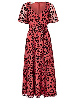 Monsoon Annie Animal Burnout Maxi Dress