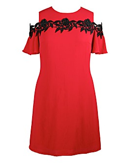 Lovedrobe Cold Shoulder Shift Dress
