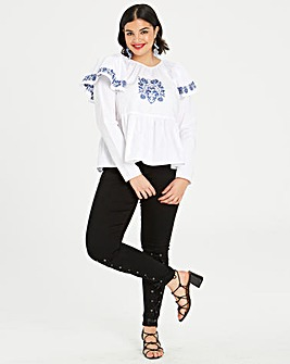 Fashion Union Embroidered Top