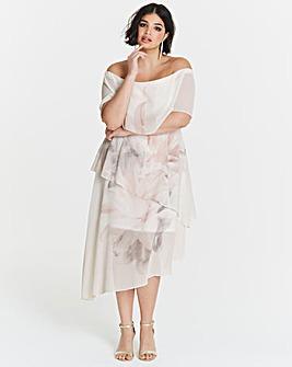 Coast Tara Print Tiered Dress