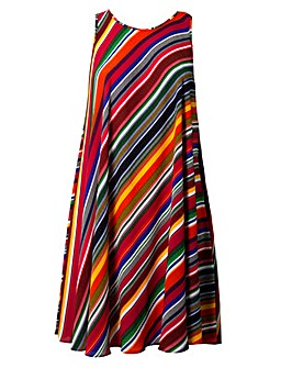 Lovedrobe GB Rainbow Stripe Swing Dress