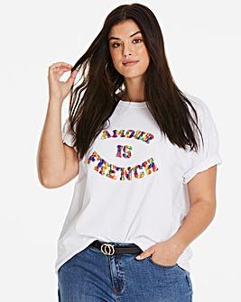 Ax Paris Curve Boucle Logo T-Shirt
