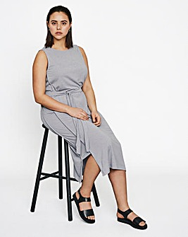 I.Scenery Sleeveless Jersey Midi Dress
