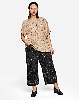 I.Scenery Wide Leg Ankle Pant