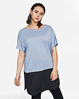 I.Scenery Colour Block Tunic