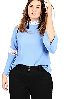 Lovedrobe GB bell sleeve blouse