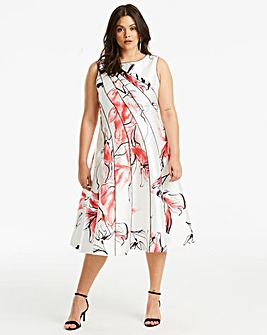 Coast Hayley Seamed Full Midi Dress