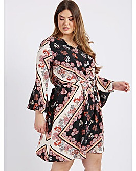 Lovedrobe GB Floral Scarf Print Dress