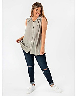 Koko Stone Sleeveless Shirt
