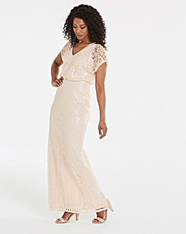 Adrianna Papell Sequin Burnout Maxi Dress