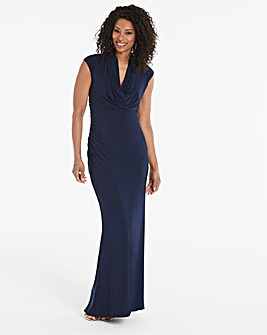 Adrianna Papell Cowl Neck Maxi Dress