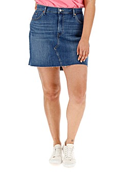 Levi's Deconstructed Raw Hem Denim Skirt
