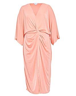 Blue Vanilla Curve Twist Front Dress