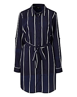 AX Paris Curve Stripe Shirt Dress