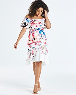 Coast Jackie Print Scuba Dress