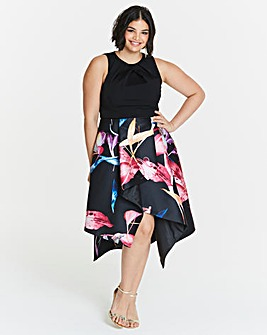 Coast Katie Print Jacquard Dress