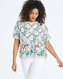 Oasis Fitzwilliam Woven Front Top