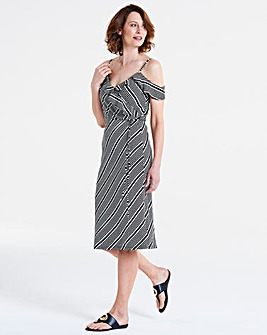 Oasis Monroe Stripe Wrap Dress