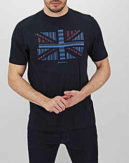 Ben Sherman Union Jack Chevron Tee Long