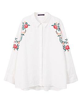 Violeta by Mango Embroidered Shirt