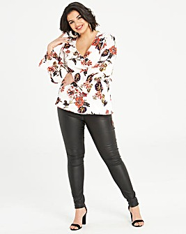 Lovedrobe Printed Wrap Top