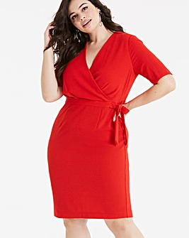 Lovedrobe Wrap Top Pencil Dress