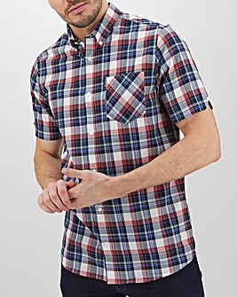 Ben Sherman Textured Check Shirt Long