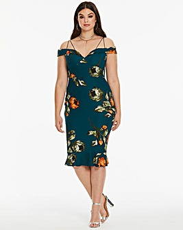 AX Paris Curve Floral Printed Dress